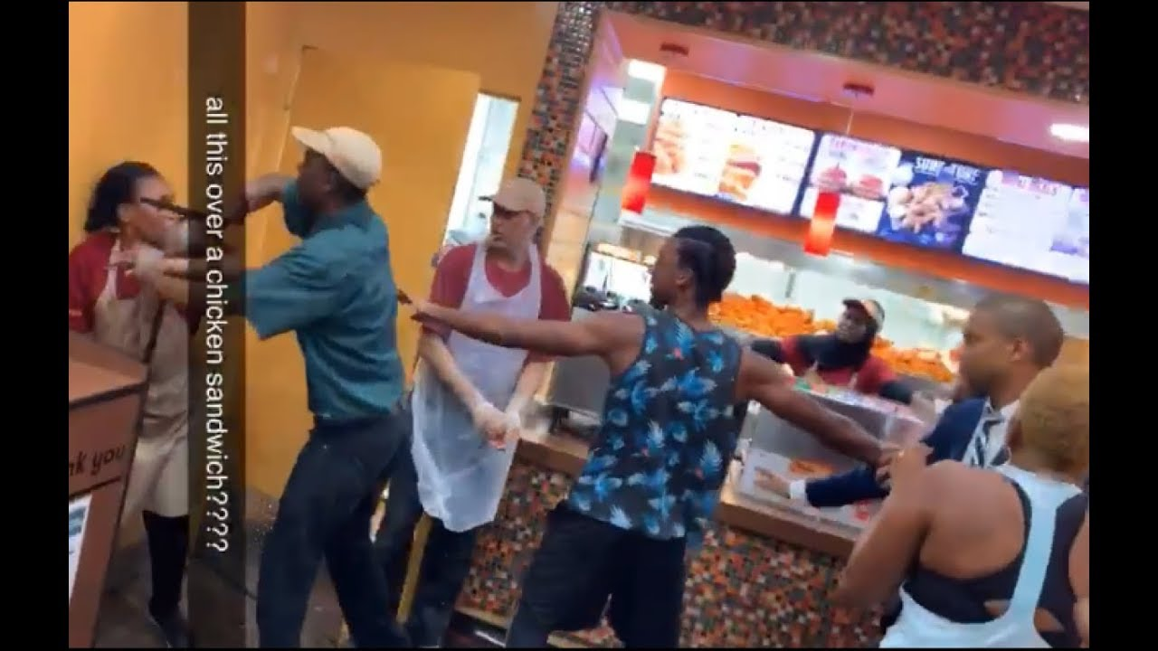 Shocking Video of Popeyes Brawl Over Chicken Sandwich