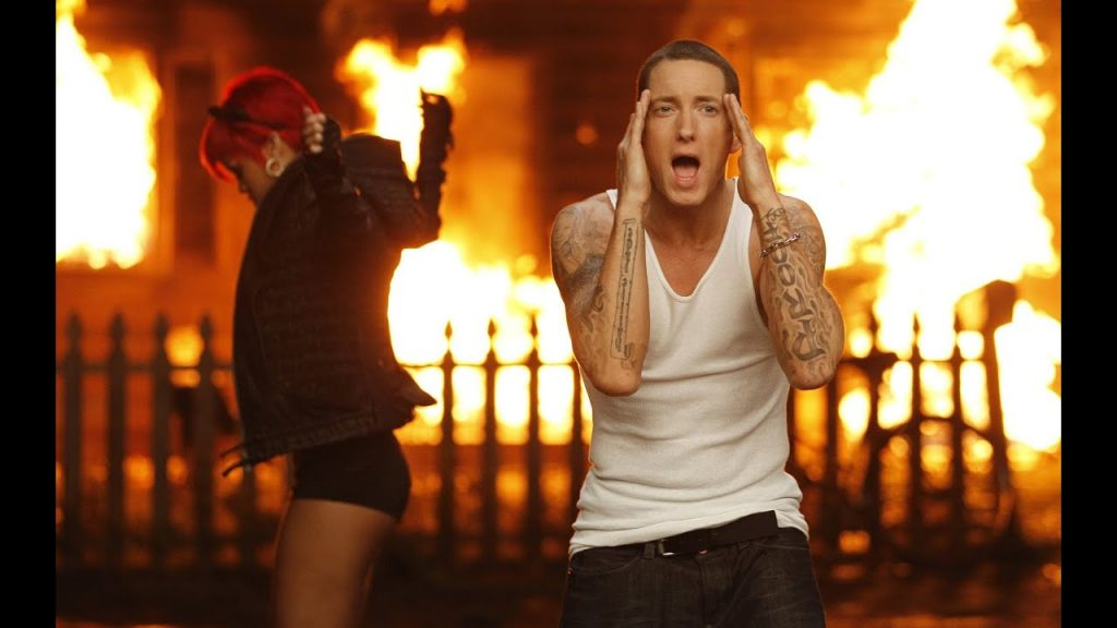 """Leaked Eminem Song Says He'd Have """"Beat Rihanna Down Too"""""""